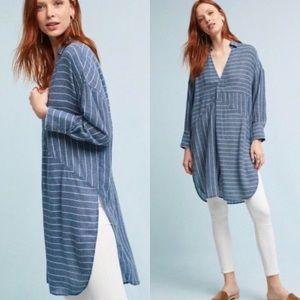 Akemi + Kin blue stripe tunic